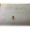 Theo wrote a letter to the zoo!