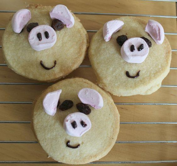 Pig biscuits or cakes