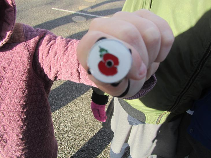 We wore poppies as a thank you to our armed forces