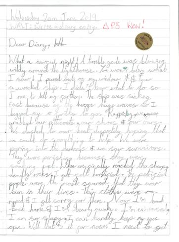 Writing Sample - Diary