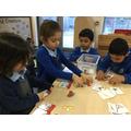 Lillie, Sahar, Abdul & Sudais practising phonics