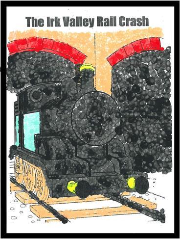 Pointillism Art: Irk Valley Train Crash