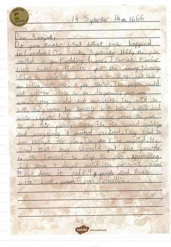 Writing Sample - Letter