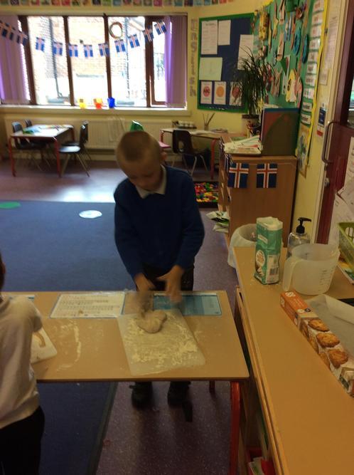 We kneaded the dough mixture