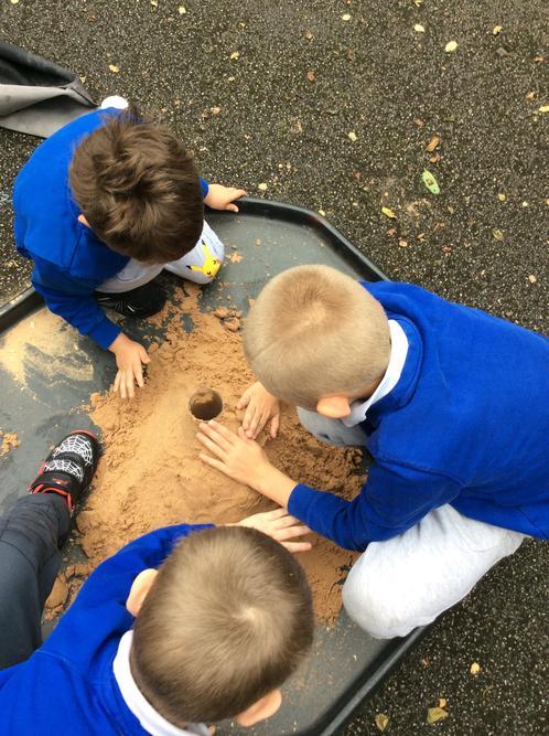 We made a volcano!