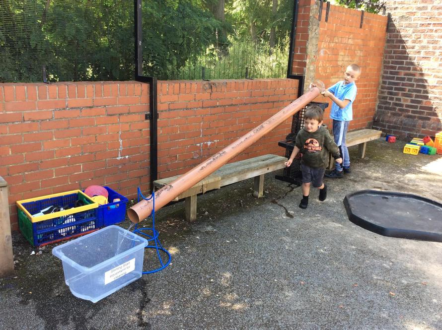 We used different sized pipes to create some of our own,