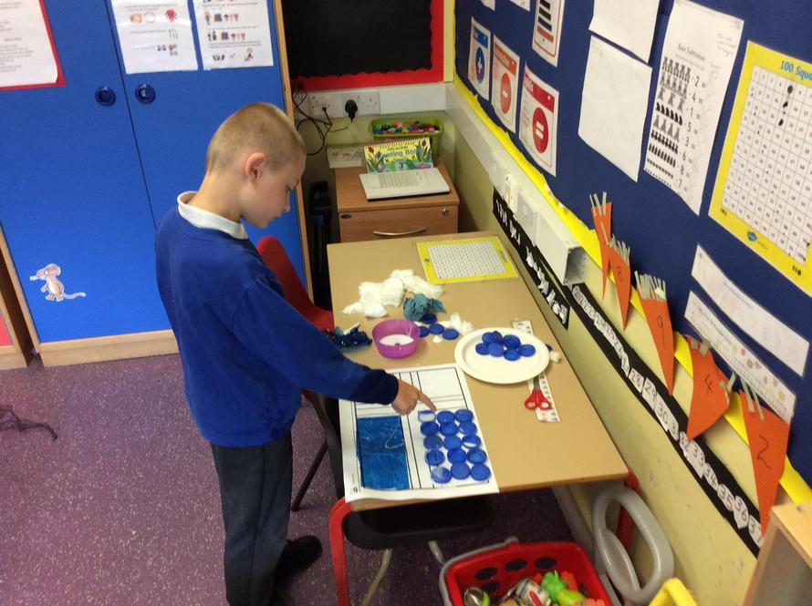 We made the Iceland flag using lots of different textures.