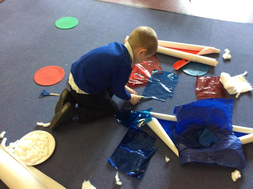 We used lots of different resources to make our flags.