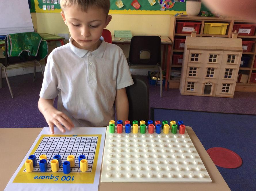 I have been working on counting. in 2's