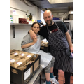 Manon helped her dad feed NHS staff