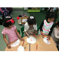 We used felt tips and water on kitchen paper.