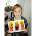 Noah with his masterpiece