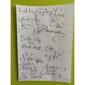 Tanvi's calligraphy