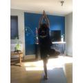 Ian practising yoga