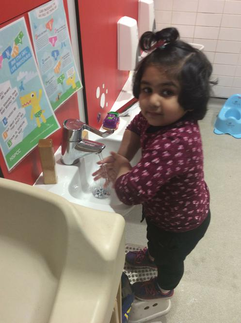 Washing our hands