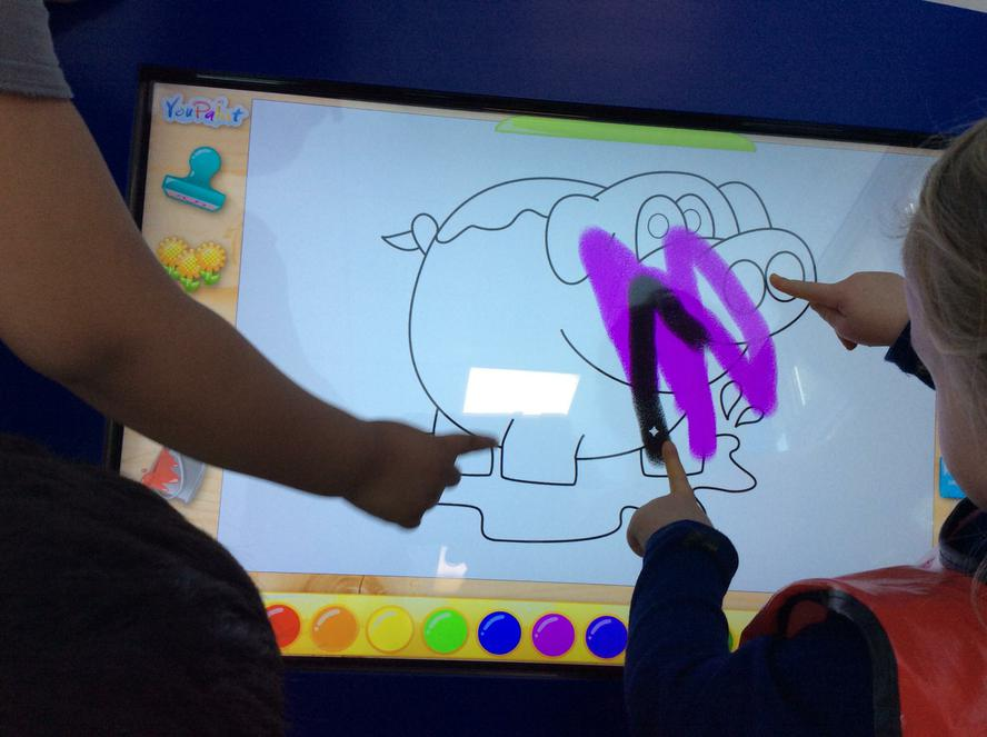 Interactive screens.