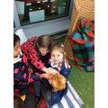 We had special time with our guinea pigs.