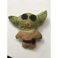 Amber's sewn Yoda for Star wars day