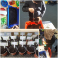 Trying out our gardening skills.