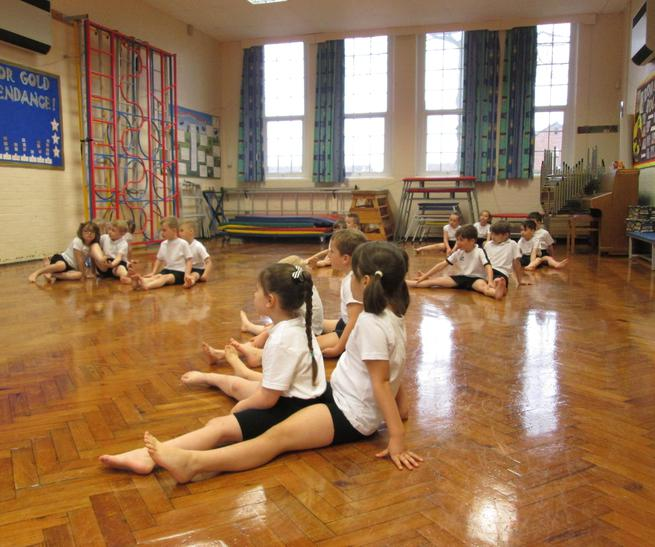 Working in pairs to do Chinese Dancing