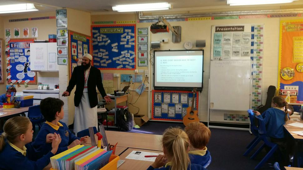 Imran Kotwal hosted workshops for Years 5 and 6