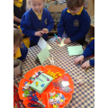 We made open ended Easter cards