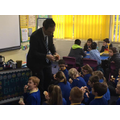Rabbi Colman visited to discuss Judaism and faith
