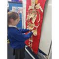 We labelled the bones on a skeleton.