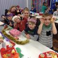 Pupils enjoy their Christmas dinner!