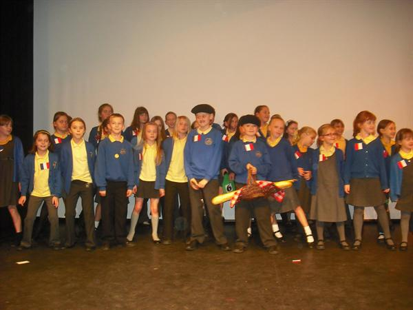 Fantastique winners of the MFL Singing Competition