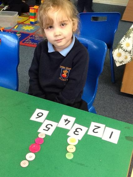We have been matching numerals to quantity.