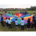 PE with Year 5 on the field