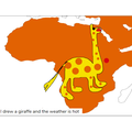 Map of Africa with animals