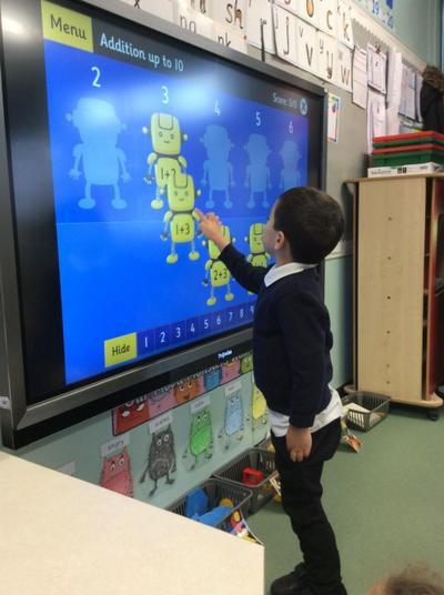 Practising addition using computing skills