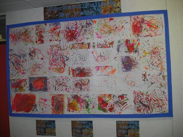 Work in the style of Jackson Pollock