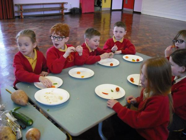 We voted to choose our favourite vegetables