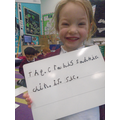 We made up the end of the sentence for the crab.