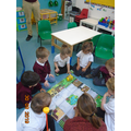 and we enjoy learning how to program the 'Beebot'.
