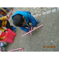 We have made shapes outside