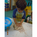then we had lots of fun kneading the dough