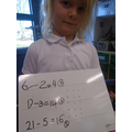 We have been practicing subtraction more.