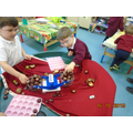 and we've explored weight and number with conkers