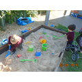 and we made lots of sand castles