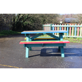 New picnic benches for eating and learning outdoors