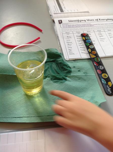 Observing oil and ice.