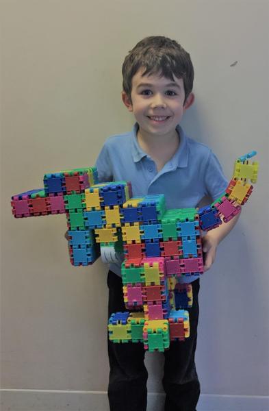 Elliott B with his amazing dragon!