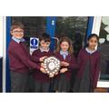 Adam, Tom, Ella & Amal- our amazing maths winners