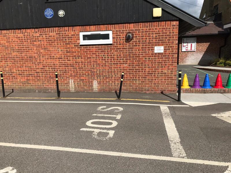STOP signage - Village Hall Car Park