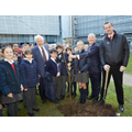 Sir David Attenborough plants trees with pupils from John Betts Primary School