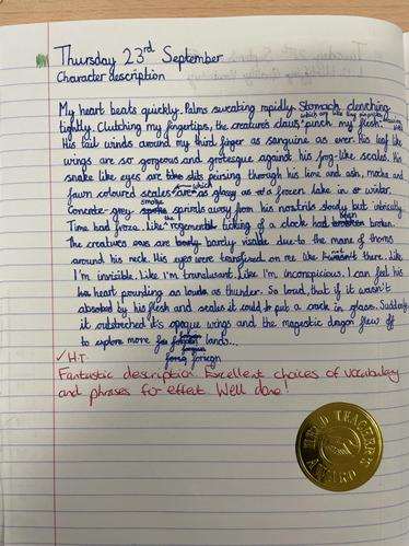 Character Description Writing, Including Self Marking Technique